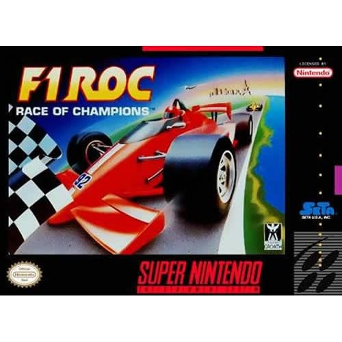 F-1 Roc Nintendo Super NES For Super Nintendo SNES Racing