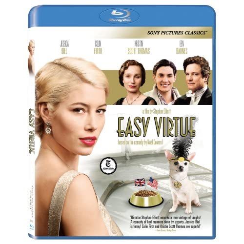 Easy Virtue On Blu-Ray With Jessica Biel