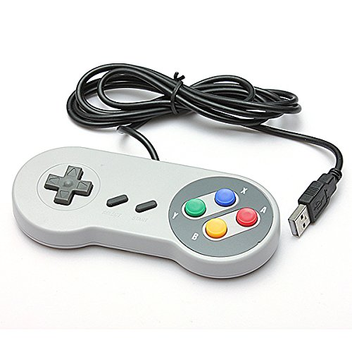 Image 0 of SNES USB Famicom Colored Super Nintendo Style Controller For Pc/mac