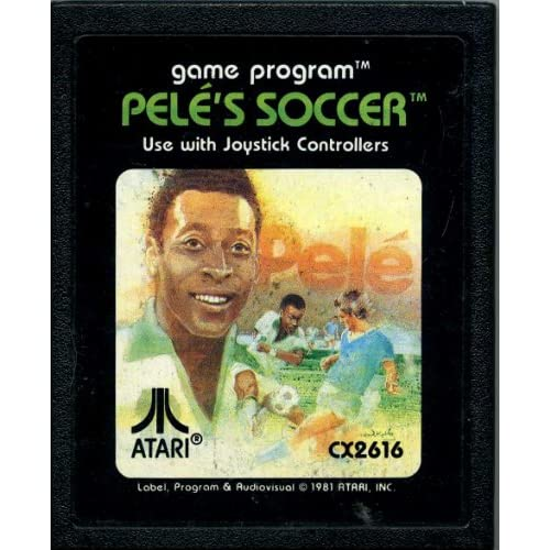 2600 Game Cartridge Pele's Soccer For Atari Vintage
