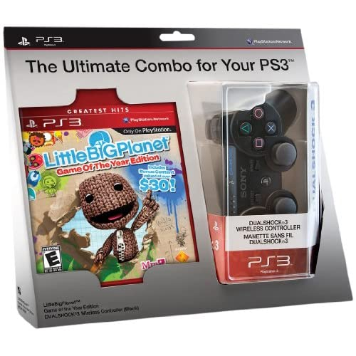 Image 0 of Littlebigplanet Game And Black Dualshock 3 Wireless Controller Bundle PlayStatio