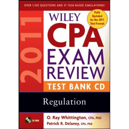 Image 0 of Wiley CPA Exam Review 2011 Test Bank CD Regulation Software