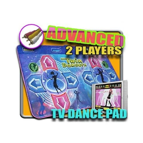 DDR Game TV Plug-N-Play Blue Advanced Two-Player Dance Pad No Consoles Or System