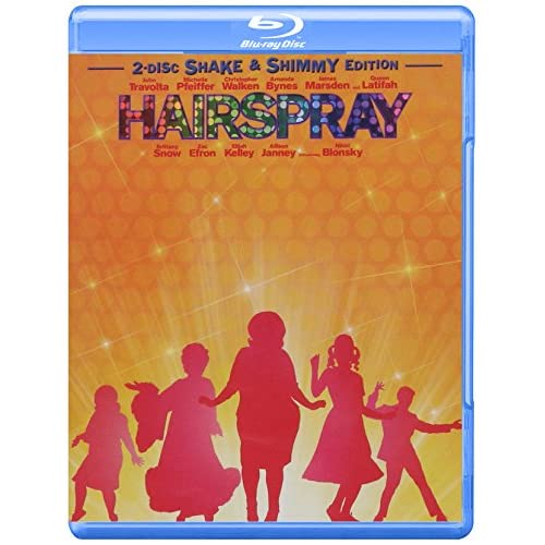 Image 0 of Hairspray Two-Disc Shake And Shimmy Edition Blu-Ray On Blu-Ray With John Travolt