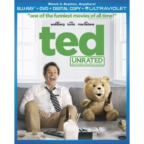 Image 0 of Ted Blu-Ray On Blu-Ray With Mark Wahlberg Comedy