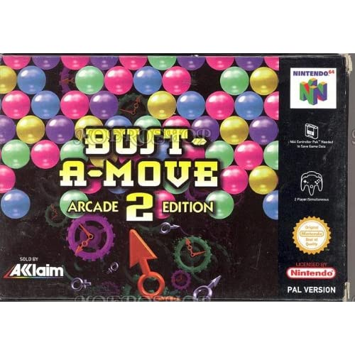 Bust-A-Move 2: Arcade Edition Nintendo 64 Cartridge For N64