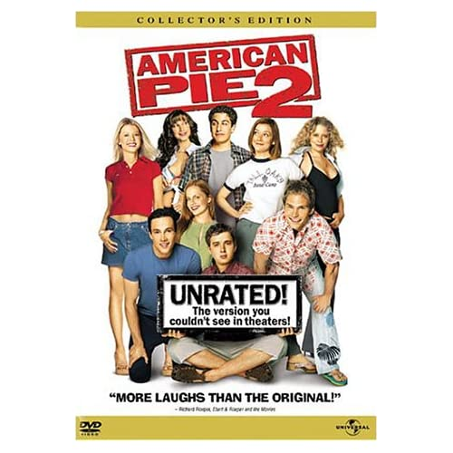 American Pie 2 Unrated Full Screen Edition On DVD with Jason Biggs