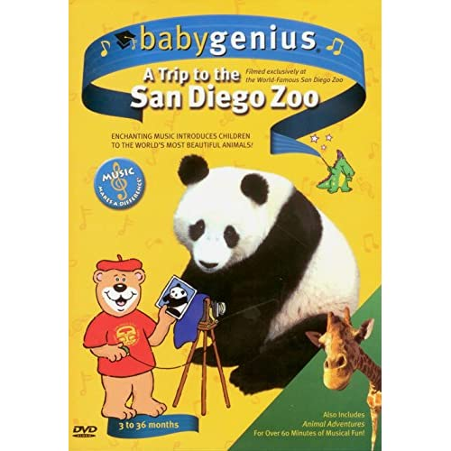 Image 0 of BabyGenius A Trip To The San Diego Zoo 3 To 36 Months On DVD Documentary