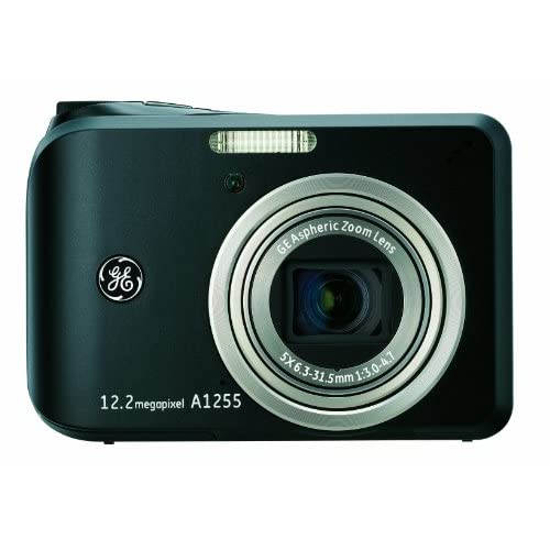 GE A1255 12 MP Digital Camera With 5X Optical Zoom And 2.7-inch LCD With Auto Br