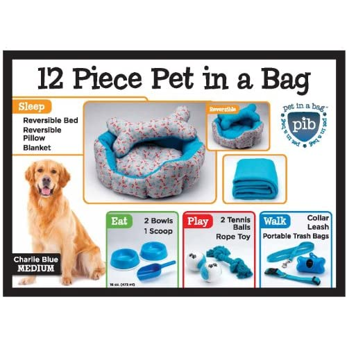 Charlie Blue 12 Pice Pet In A Bag Set Large Nesting