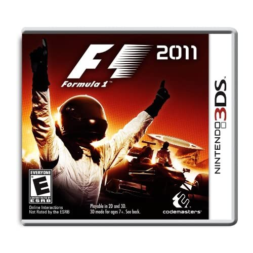 F1 2011 Nintendo For 3DS With Manual and Case