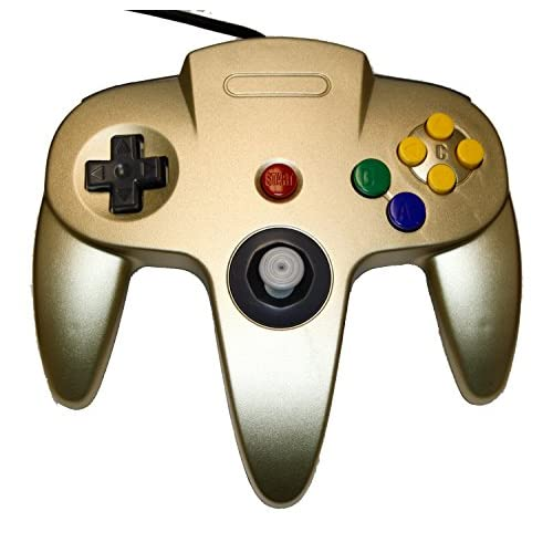 Image 0 of Nintendo Gold Zelda Replacement Controller By Mars Devices Gamepad For N64