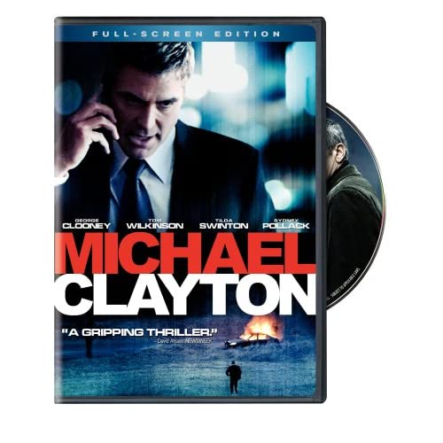 Image 0 of Michael Clayton Full Screen Edition On DVD with George Clooney Mystery