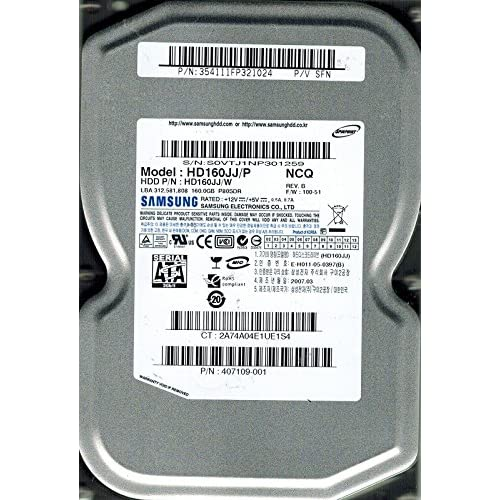 Image 0 of Samsung HD160JJ/P Spinpoint 160GB SATA P/n: 354111FP321024