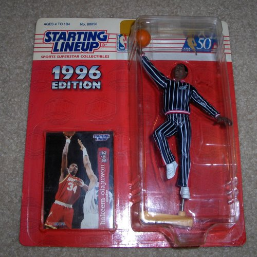 1996 Hakeem Olajuwon NBA Starting Lineup Toy Basketball