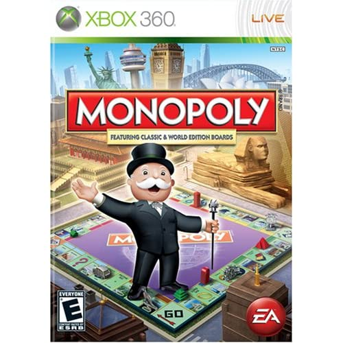Xbox 360 T Games : Monopoly worldwide for xbox board games with manual