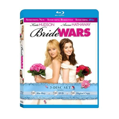 Image 0 of Bride Wars Three-Disc Set Blu-Ray On Blu-Ray With Anne Hathaway 3 Comedy