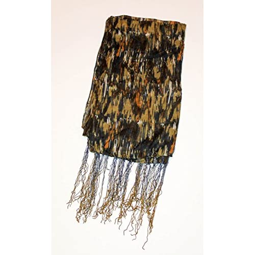Patterned Fashion Scarf Earth Tone Beige Brown