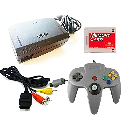 Image 0 of Nintendo 64 Replacement Cable Kit With Controller AV Cable Power Adapter And Mem