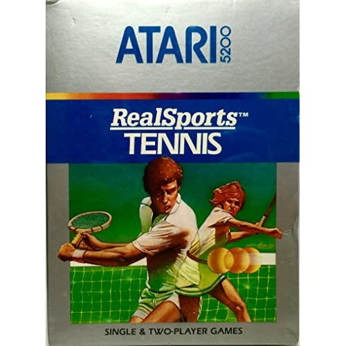 5200 Real Sports Tennis For Atari  Vintage