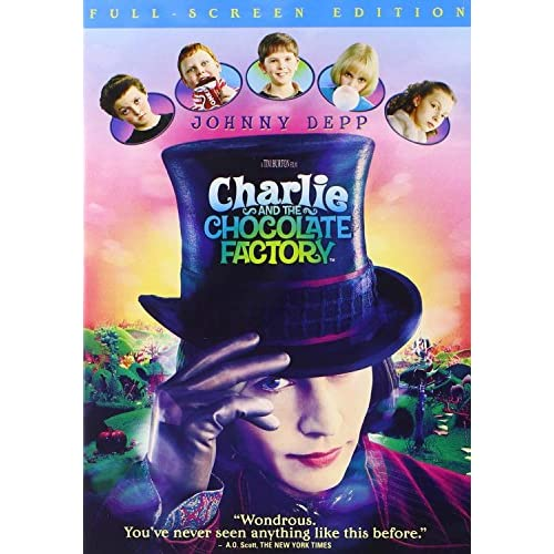 Image 0 of Charlie And The Chocolate Factory Full Screen Edition On DVD With Johnny Depp