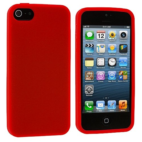 Image 3 of Red Silicone Rubber Gel Soft Skin Case Cover For Apple iPhone 5 5S SE