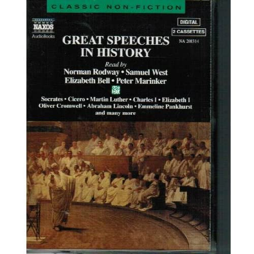 Image 0 of Great Speeches In History Classic Non-Fiction By Norman Rodway Narrator And Samu