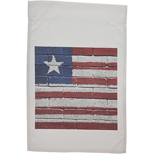 3DROSE Fl 156925 1 National Flag Of Liberia Painted Onto A Brick Wall