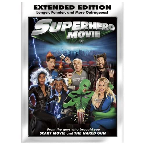 superhero movie extended edition on dvd with pamela