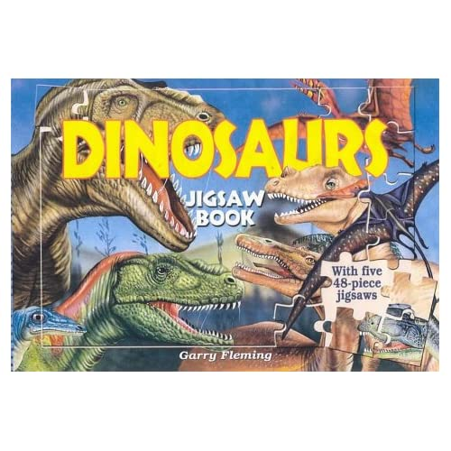Dinosaurs Jigsaw Book With Five 48-Piece Jigsaws By