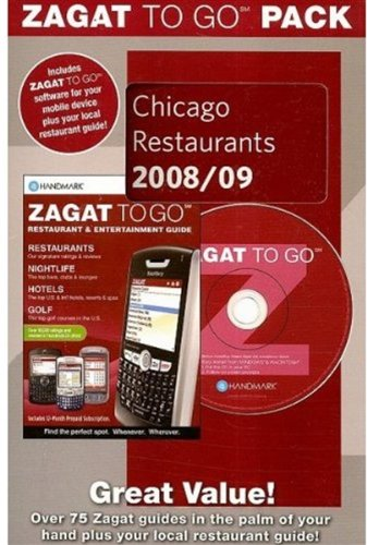 Zagat To Go Pack Chicago Restaurants 2008/09 Zagat To Go Packs