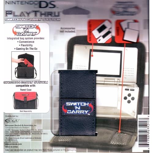 Image 0 of Nintendo Playthru Switch 'N Carry System Black Leatherette Case For DS Multi-Col