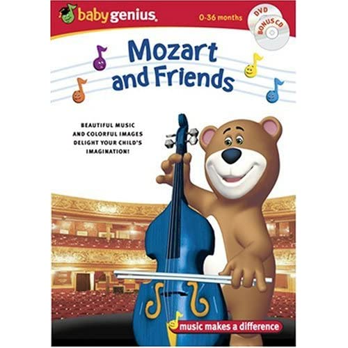 Image 0 of Baby Genius Mozart & Friends W/bonus Music CD On DVD with Artist Not Provided