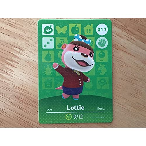 Animal Crossing Happy Home Designer Amiibo Card Lottie 017/100 TCG