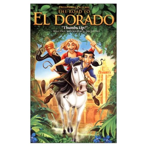 Image 0 of The Road To El Dorado On VHS With Kevin Kline Anime