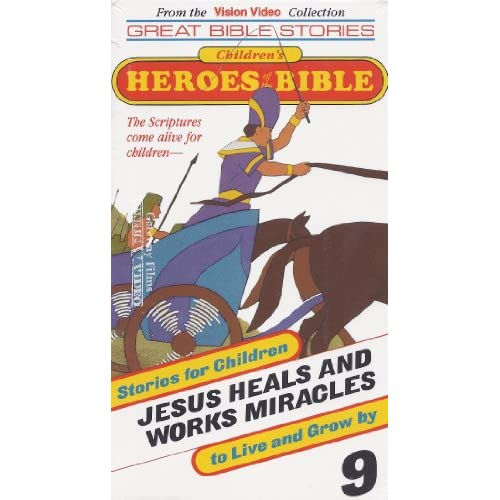 Image 0 of Children's Heroes Of The Bible #9 Jesus Heals And Works Miracles On VHS With Gat