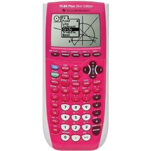 Texas Instrument 84 Plus Ti 84 Silver Edition Graphing Calculator Pink
