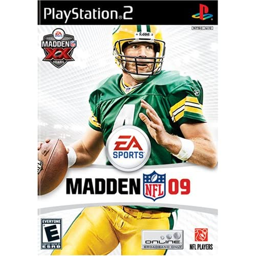 Madden NFL 09 For PlayStation 2 PS2 Football With Manual and Case