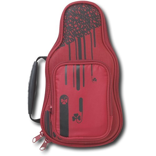 Image 0 of React Protective Case For DS DSi DS Lite Systems Red Guitar Pouch
