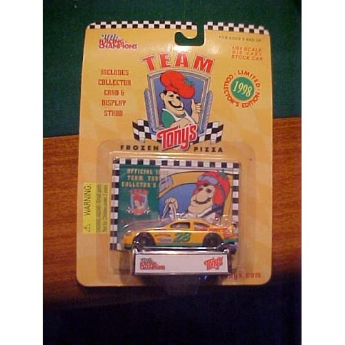 Image 0 of Team Tony's Frozen Pizza Diecast #28 Car And Colletor Card By Racing Champions T