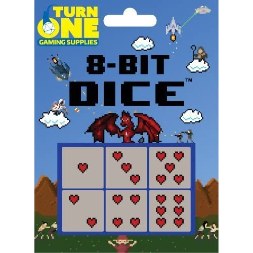 Image 0 of D6 8-BIT Dice Hearts 6 Toy