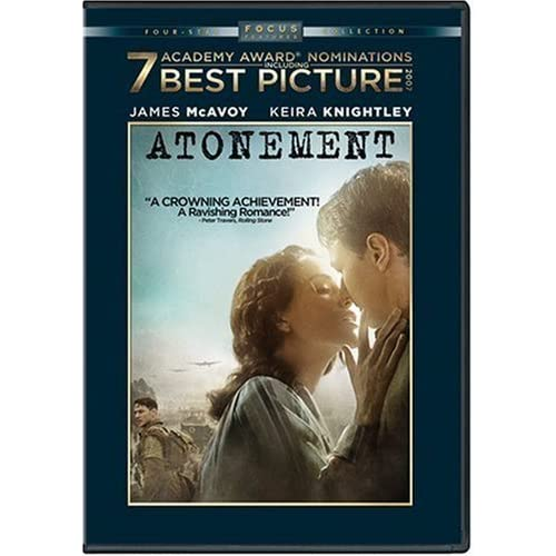 Image 0 of Atonement Full Screen Edition On DVD With James Mcavoy Drama