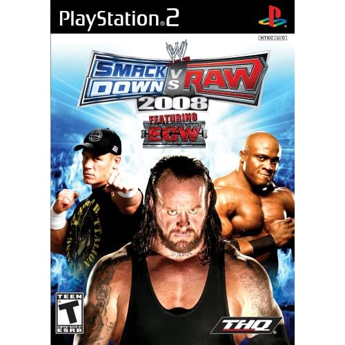 WWE Smackdown Vs Raw 2008 For PlayStation 2 PS2 Wrestling