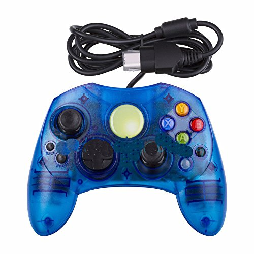Image 0 of Xbox S-Type Controller Microsoft Xbox Original Wired Crystal Blue
