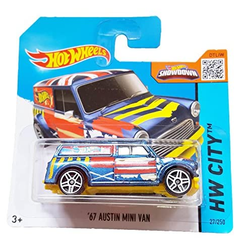Image 0 of Hot Wheels Hw City 27/250 '67 Austin Mini Van On Short Card Blue Toy