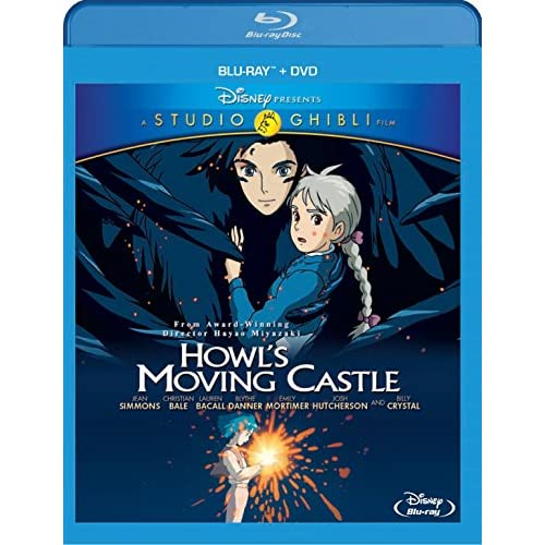 Howl S Moving Castle Two Disc Dvd Combo On Blu Ray With