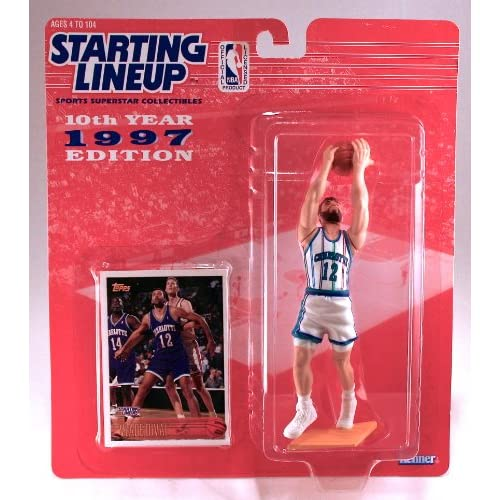 Image 0 of Vlade Divac / Charlotte Hornets 1997 NBA Kenner Starting Lineup And Exclusive To
