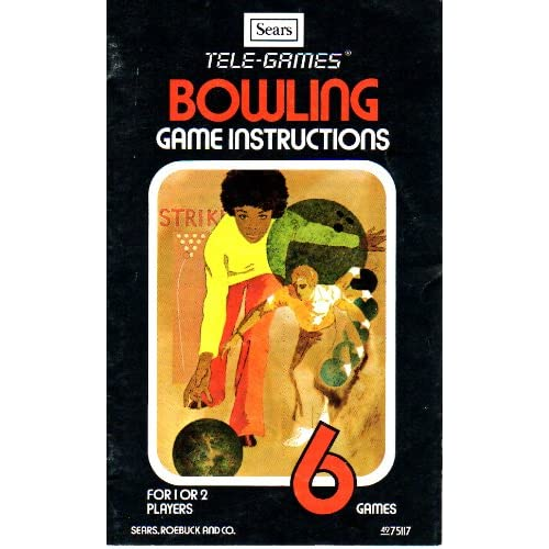 Bowling 2600 Sears Tele-Games Version 2600 Only No Game Pamphlet No Game Include