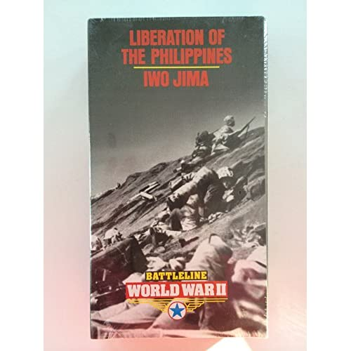 Battle Line World War II Liberation Of The Philippines / Iwo Jima On VHS with Ma