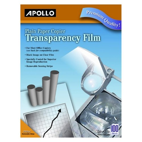 Image 0 of Apollo Co Acco World Transparency Film 8-12 X11 100BOX Black On Clear